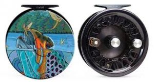Artwork on a Fly Fishing Reel