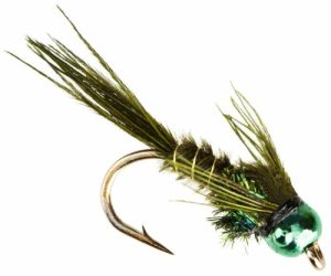Olive Bead Head Pheasant Tail Fly Pattern