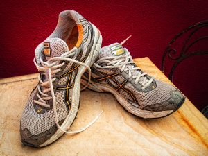 Old Pair of Asics Running Shoes