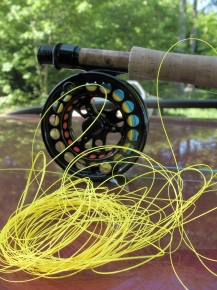 Tangled Line on a Fly Reel