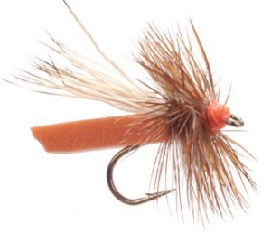 Orange Neversink Caddis Fly Pattern