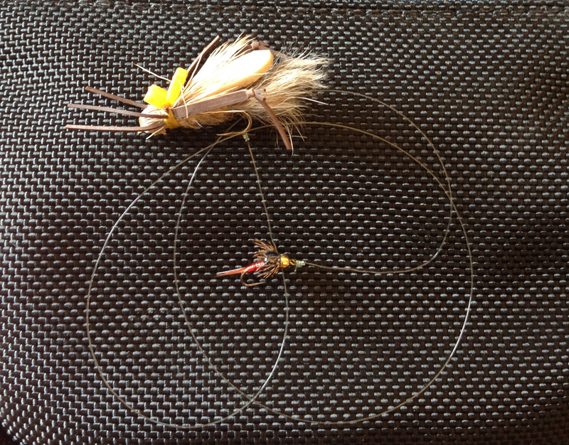 Dry Fly with a Nymph Dropper